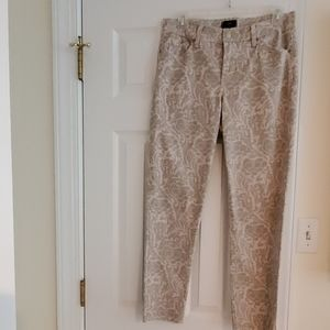 Not Your Daughters Jean's white/ gray pattern  jea
